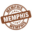 memphis brown grunge round vintage rubber stamp vector image vector image