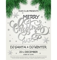 merry christmas party poster with christmas vector image vector image