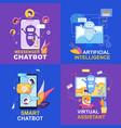 messenger chatbot artificial intelligence smart vector image