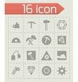 mining icon set vector image vector image