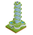 modern ecologic skyscraper with many trees on vector image vector image
