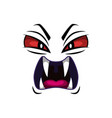 monster face isolated icon roaring devil vector image vector image