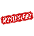 Montenegro red square grunge retro style sign vector image vector image