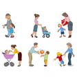 parents with children vector image vector image
