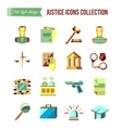 prisoner at bar set law and justice flat vector image