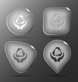 Protection nature Glass buttons vector image vector image