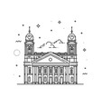 reformed great church of debrecen hungary vector image vector image