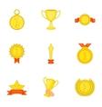 Rewarding icons set cartoon style vector image