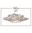 risotto sketch icon for italian cuisine vector image vector image