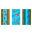 river and underwater seamless landscapes set user vector image vector image