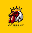 rooster king logo vector image