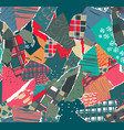 seamless pattern with colorful abstract vector image