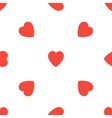 Seamless pattern with light red hearts Valentines vector image