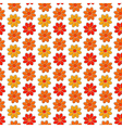 Seamless pattern with yellow and red camomiles vector image vector image