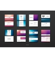 Set of Design Business Card Template in Mardi Gras vector image