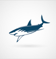 Shark fast moving logo sign vector image vector image