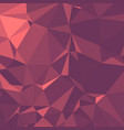 shiny polygonal background in coral rosewood tones vector image