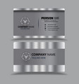 silver black business card template image vector image vector image