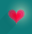 Single Flat Heart vector image