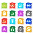 sport equipment icon set vector image vector image