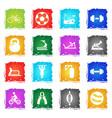 sport equipment icon set vector image vector image