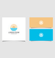 summer beach logo design premium vector image