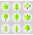 The set of nature icons vector image