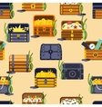 Treasure chest seamless patetrn vector image