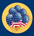 Usa patriotic balloons colored specially for the