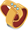 wedding rings vector image vector image