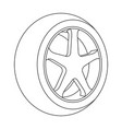 wheel with a tire cover for the carcar single vector image vector image
