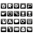 White web site icons on black squares vector image vector image