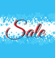 winter sale poster with sale text advertising vector image vector image