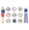 woman collection of clothes vector image