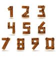 Wooden numbers vector image vector image