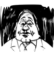 startled man caricature sketch vector image
