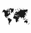 world map monochrome world map icon vector image