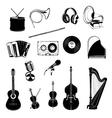 Musical Instrument Design Elements Set Horn vector image