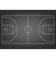 Black basketball court - top view vector image