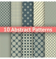 10 Abstract vintage seamless patterns tiling vector image