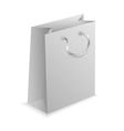 3D paper shopping bag on white background vector image
