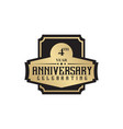 4th year anniversary emblem logo design template