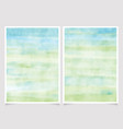 abstract blue and green watercolor background vector image vector image