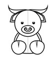 abstract cute animal vector image vector image