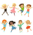 active kids in different action poses vector image vector image
