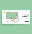 adult and child characters playing squash landing vector image