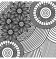 adult coloring monochrome flowers drawing vector image