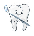 afraid tooth frightened treatment and dentist vector image