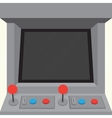 Arcade machine game cabinet isolated vector image vector image