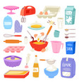 bakery ingredients food and kitchenware